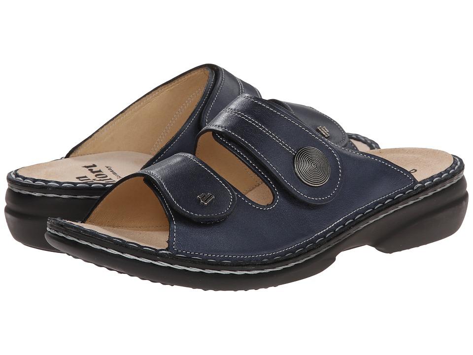 Finn Comfort Sansibar 82550 (Marine Leather) Women's Shoes