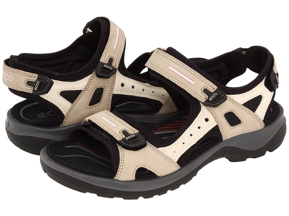 ECCO Sport Yucatan Sandal Atmosphere/ Ice White/ Black Womens Sandals