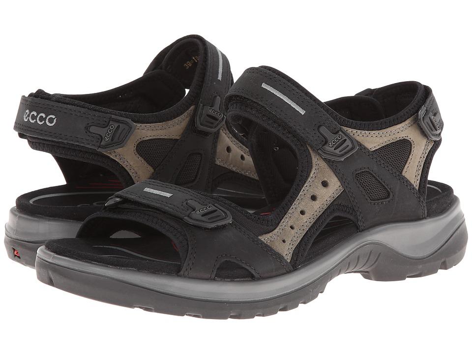 ECCO Sport Yucatan Sandal Black/ Mole/ Black Womens Sandals
