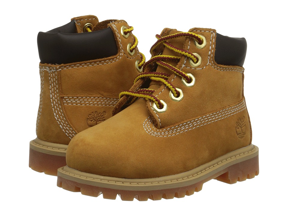 Timberland Kids 6 Premium Waterproof Boot Core Toddler/Little Kid Wheat Nubuck Boys Shoes