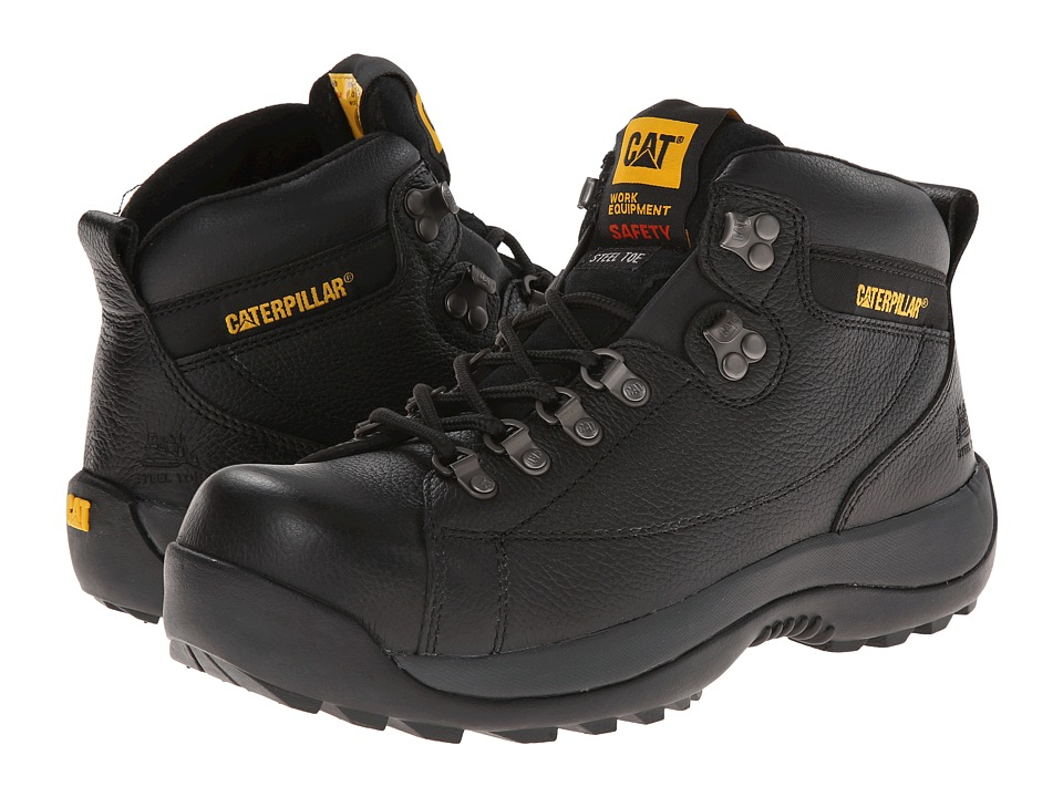 Caterpillar Hydraulic Steel Toe (Black Full Grain) Men