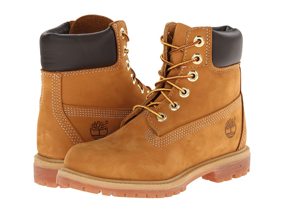 Timberland - 6 Premium Boot (Wheat Nubuck) Women