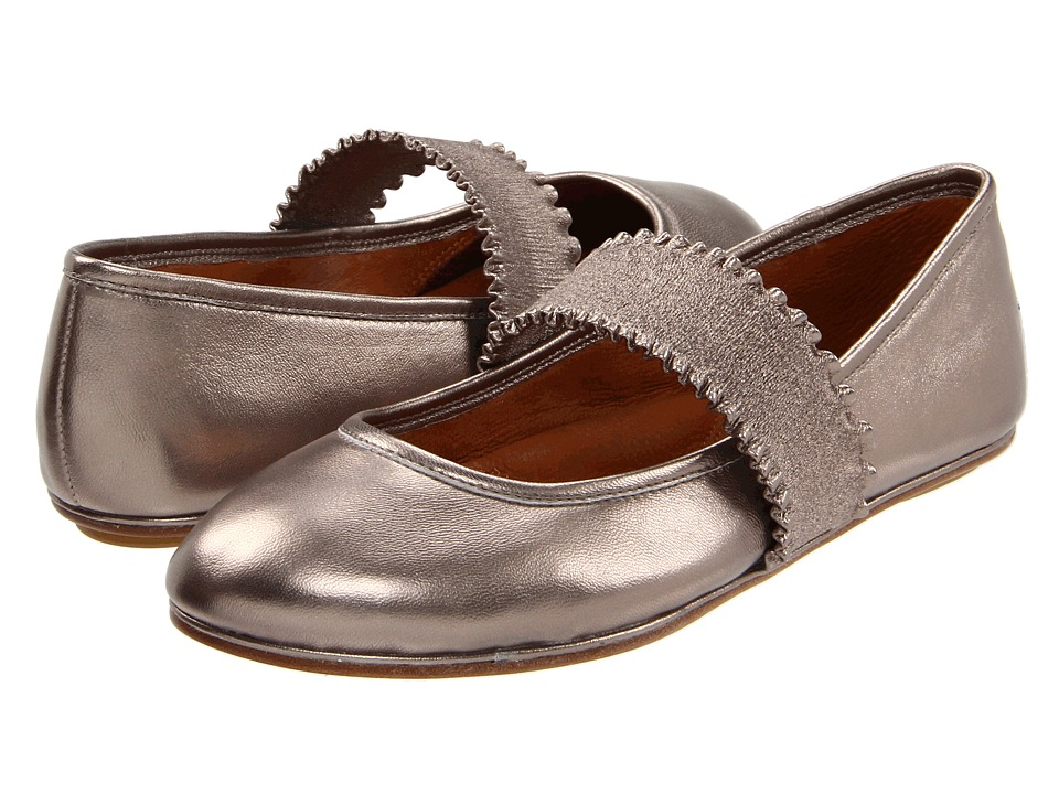 Gentle Souls Gabby Pewter Metallic Womens Maryjane Shoes
