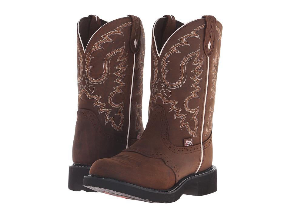 Justin - Inji (Aged Bark) Cowboy Boots