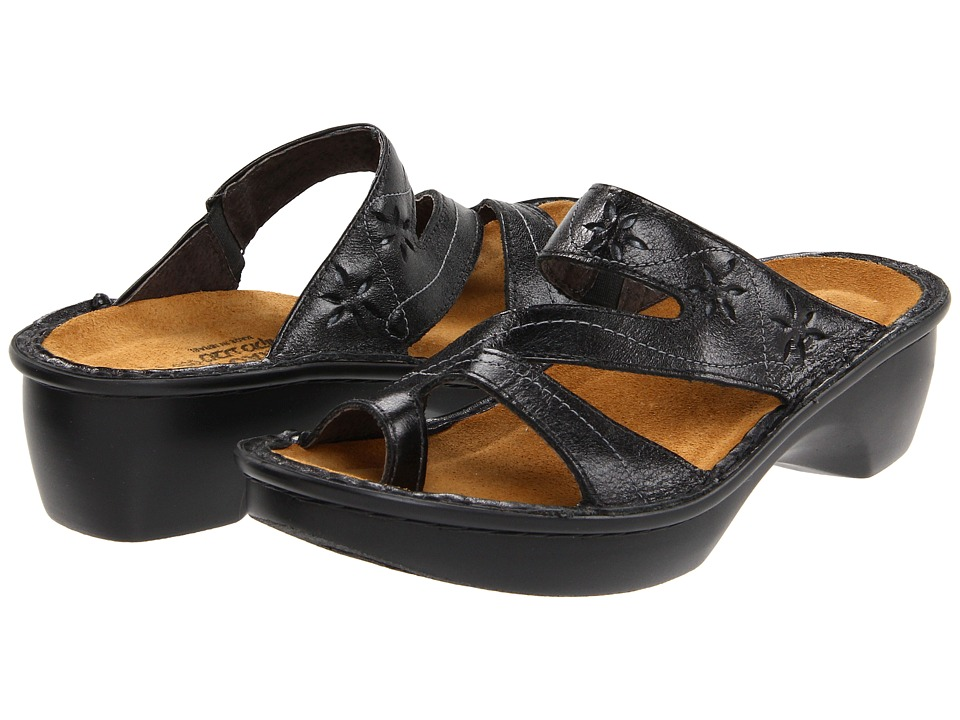 Naot Footwear Montreal (Black Madras) Women's Slide Shoes