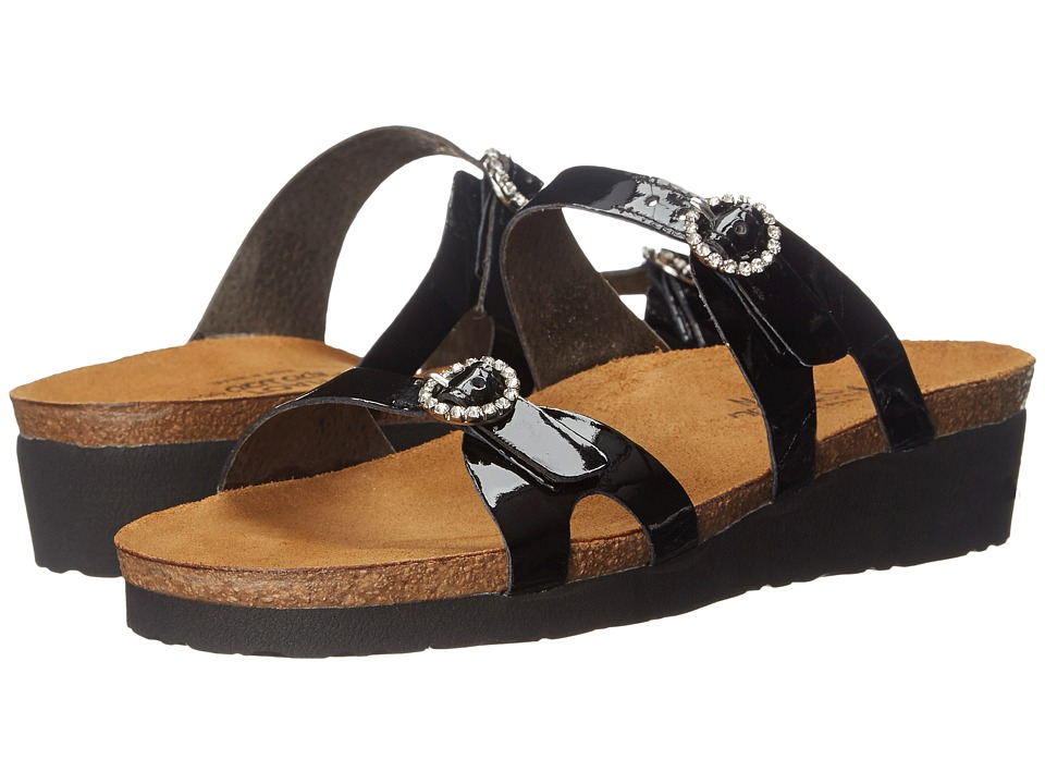 Naot Footwear Kate (Black Patent Leather) Sandals