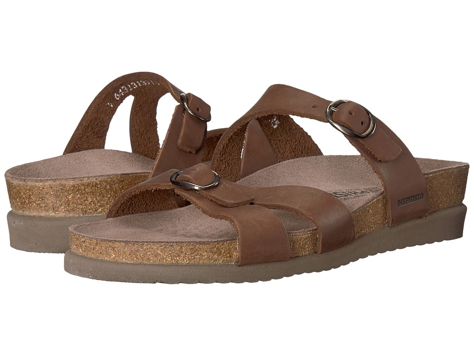 Mephisto - Hannel (Dark Brown Scratch Leather) Womens Sandals