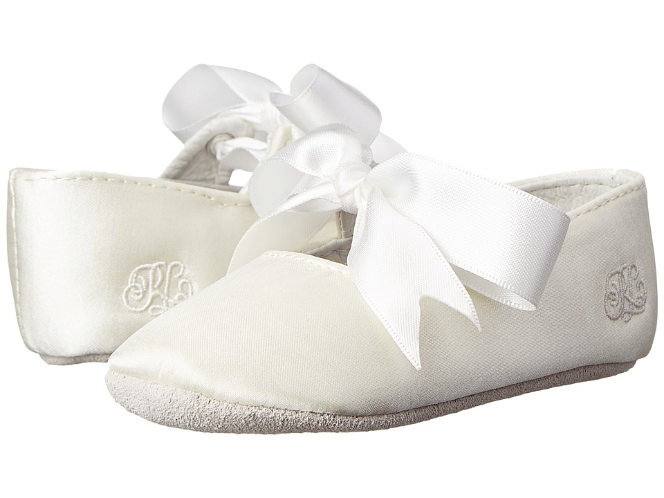 Polo Ralph Lauren Kids Briley Soft Sole (Infant/Toddler) (Champagne Satin) Girls Shoes