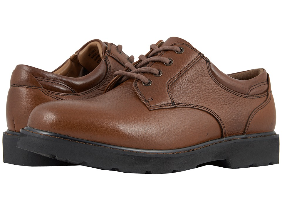 Dockers - Shelter Plain Toe (Dark Tan Full Grain Leather) Mens Lace up casual Shoes