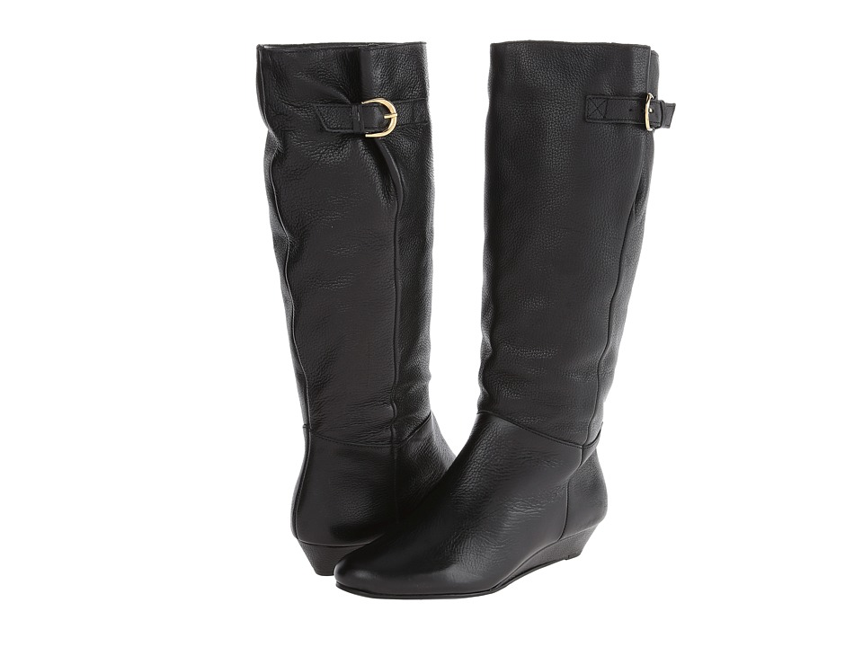 Steven Intyce (Black Leather) Women's Pull-on Boots