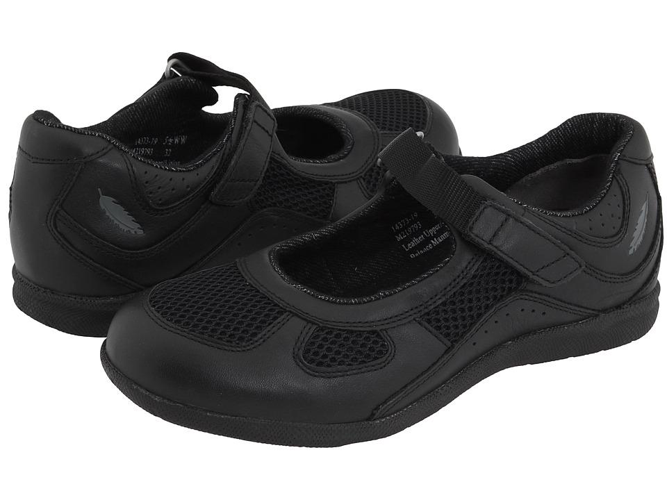 Drew Delite (Black Calf/Black Mesh) Maryjane Shoes