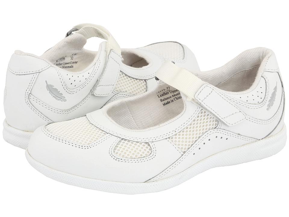 Drew Delite (White Calf/White Mesh) Maryjane Shoes