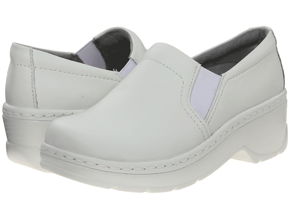Klogs Footwear Naples (White Leather) Women's Clogs