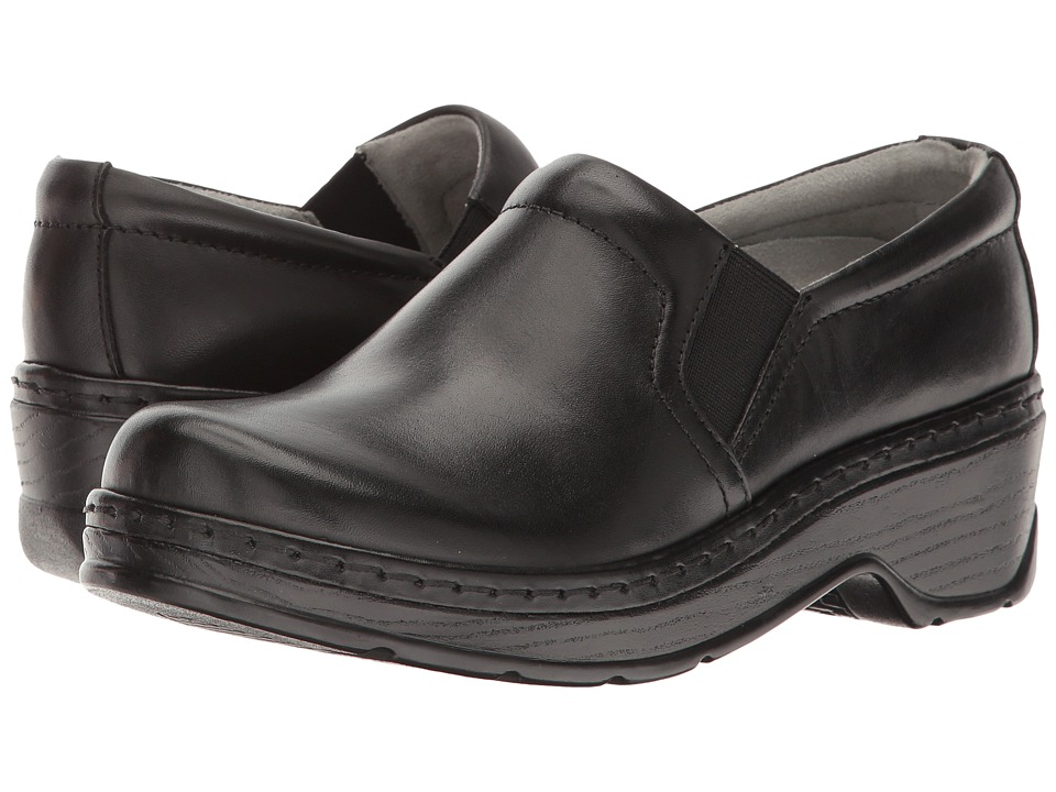 Klogs Footwear Naples (Black Leather) Women's Clogs