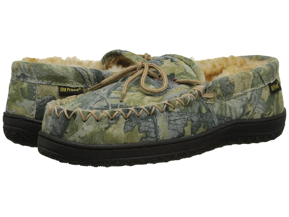 Old Friend - Camouflage Moccasin (Camouflage W/Stony Fleece) Mens Slippers