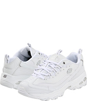 """Skechers 斯凯奇 D'lites 女士时尚运动休闲鞋, 原价$55, 现仅售$29.99, 任意两件或两件以上免运费! 这款Skechers斯凯奇D'lites白色女士时尚运动休闲鞋,是韩国人气组合少女时代、SISTAR, SHINee以及After School同款,该系列黑、白色比较热销,深受韩星追捧,断货比较严重,无论搭配打底裤、九分裤、小脚裤还是短款、短裙等都可以Hold住,比较百搭,受到很多妹子喜爱。鞋面采用皮革及涤纶拼接而成,鞋侧面""""S""""标志细节,时尚新潮,舒适轻便且透气性好,内置透气鞋垫,超轻量级的EVA减震中底以及带有小跟的橡胶大底,舒适的同时时尚范儿十足。  详情请点击这里"""