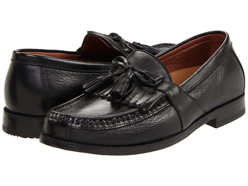 Johnston amp Murphy Aragon II Black Deer w/Black Waxhide Trim Mens Slip on Shoes