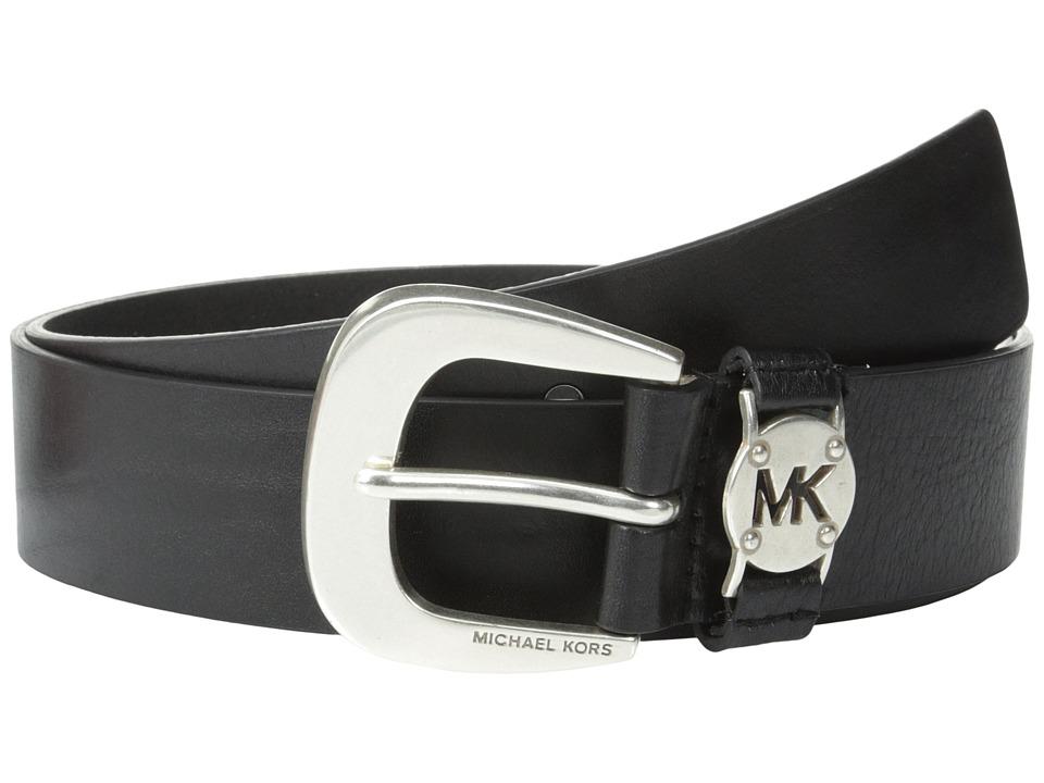 MICHAEL Michael Kors - 1 5/8 Cut Out Logo Disc Loop (Black/Silver) Women