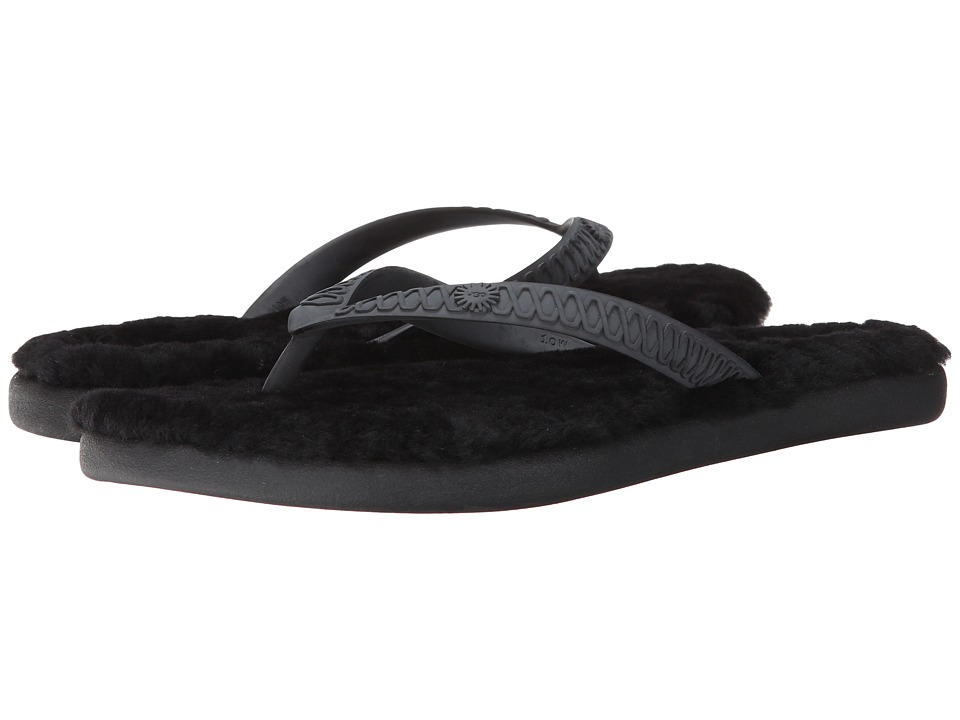 UGG Fluffie Black Womens Sandals