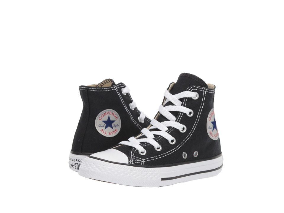 Converse Kids Chuck Taylor All Star Core Hi (Little Kid) (Black) Kids Shoes