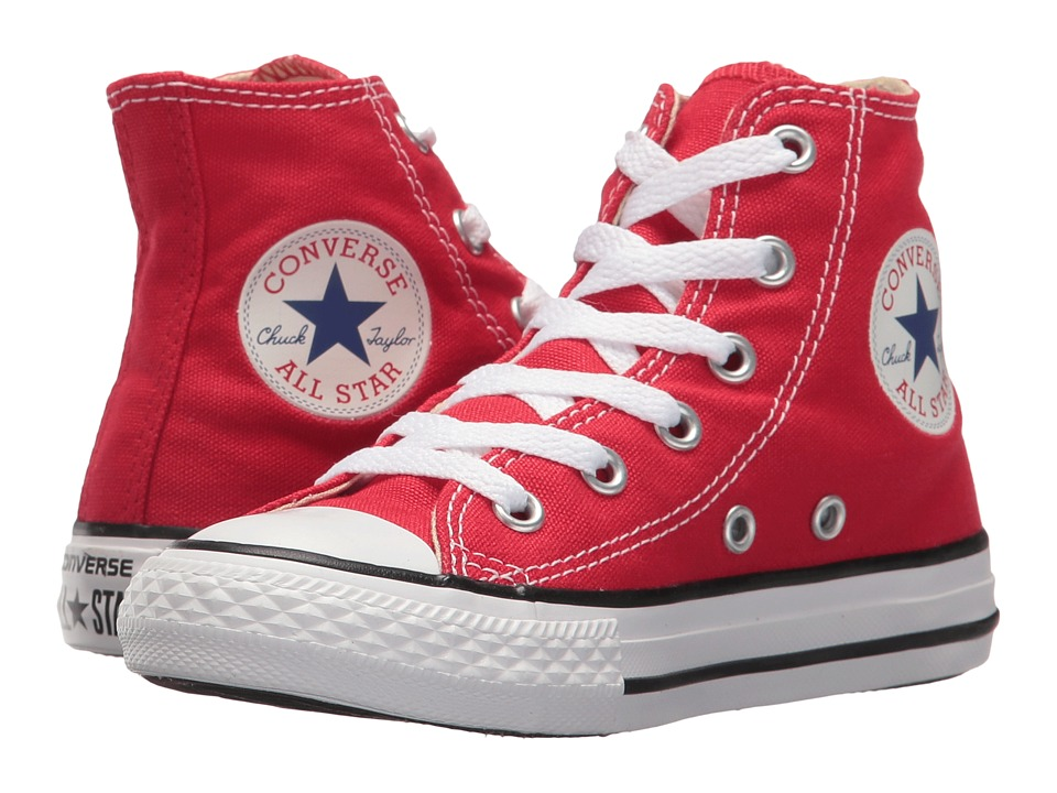Converse Kids Chuck Taylor All Star Core Hi (Little Kid) (Red) Kids Shoes