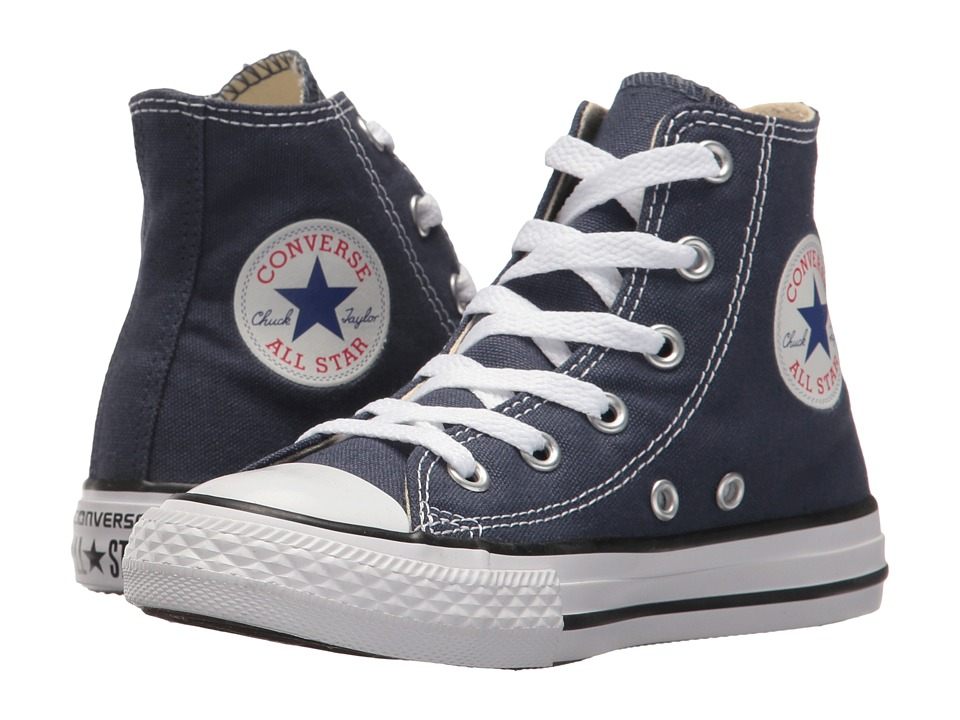 Converse Kids Chuck Taylor All Star Core Hi (Little Kid) (Navy) Kids Shoes