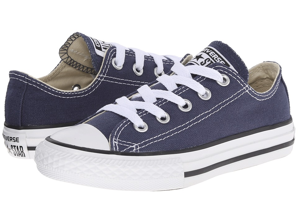 Converse Kids Chuck Taylor All Star Core Ox (Little Kid) (Navy) Kids Shoes
