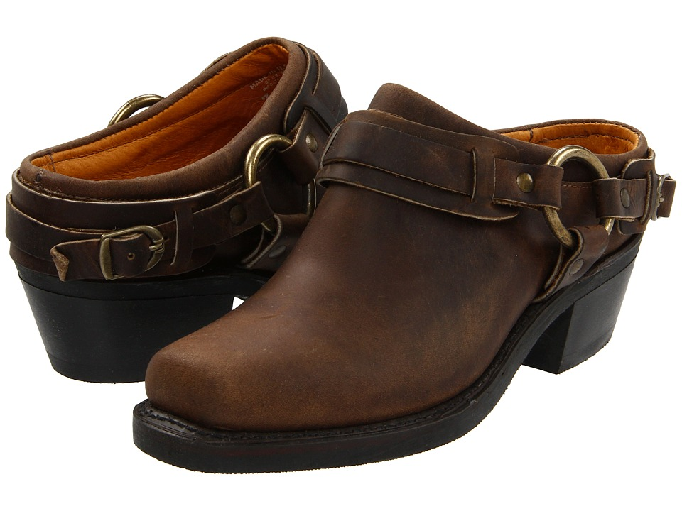 Frye - Belted Harness Mule (Tan Crazy Horse Leather) Womens Boots