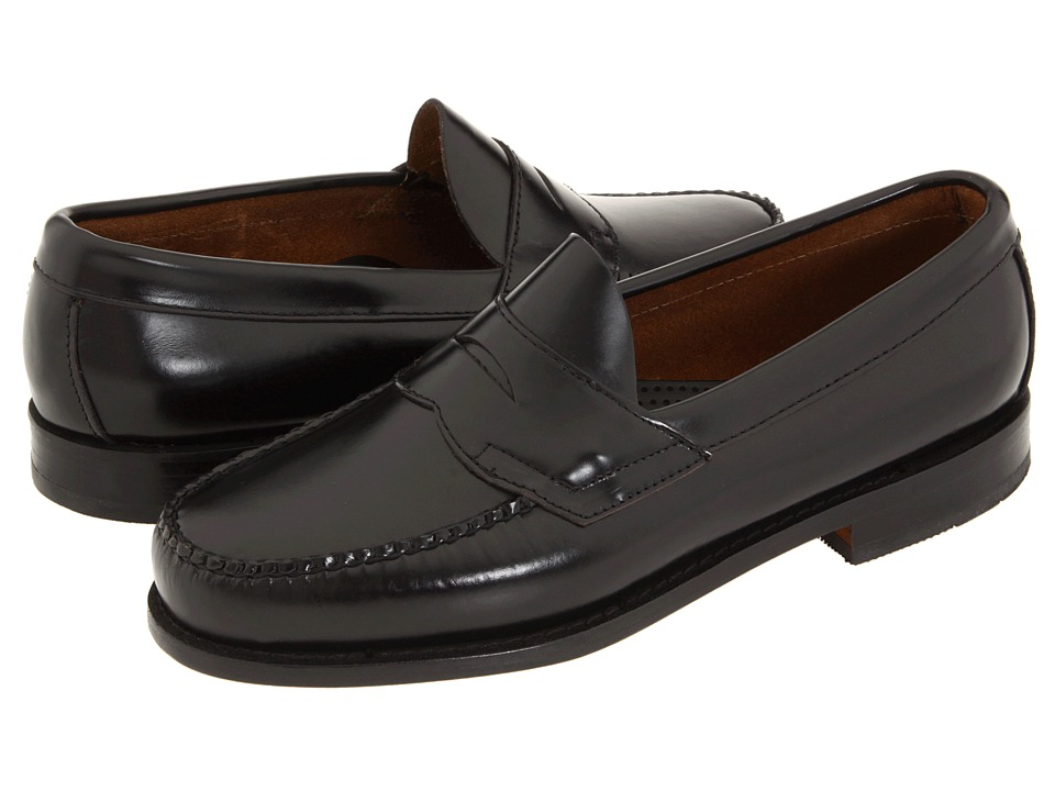 G.H. Bass & Co. - Logan Weejuns (Black Box Leather) Mens Shoes