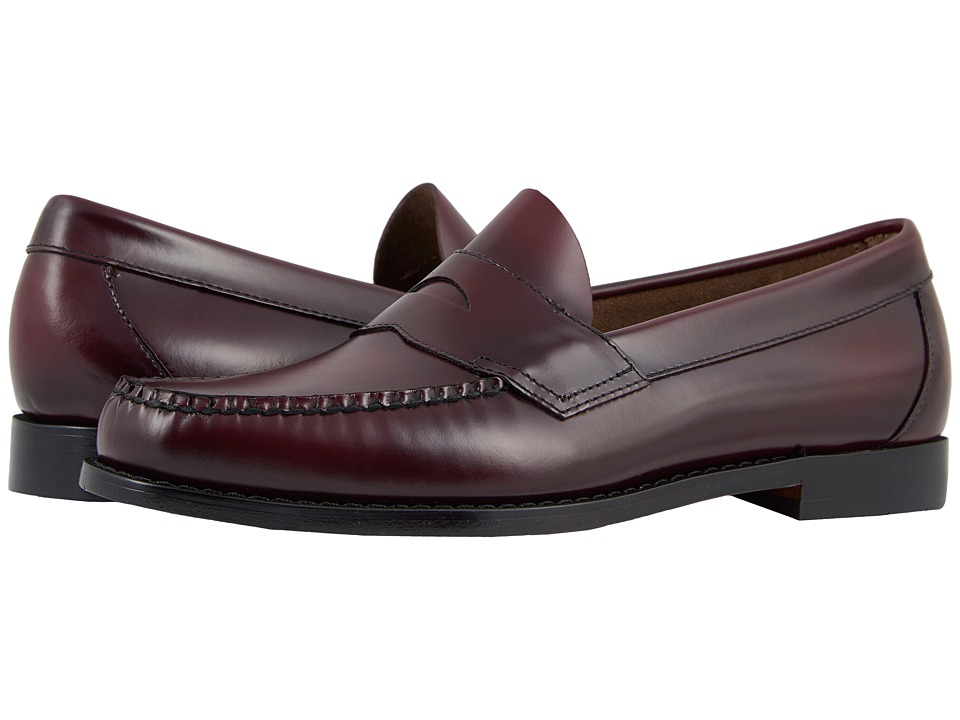 G.H. Bass & Co. Logan Weejuns (Burgundy Box Leather) Men
