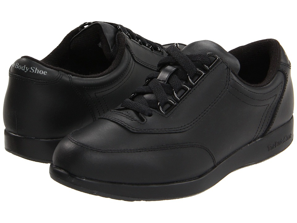 Hush Puppies Classic Walker (Black Leather) Women's Shoes
