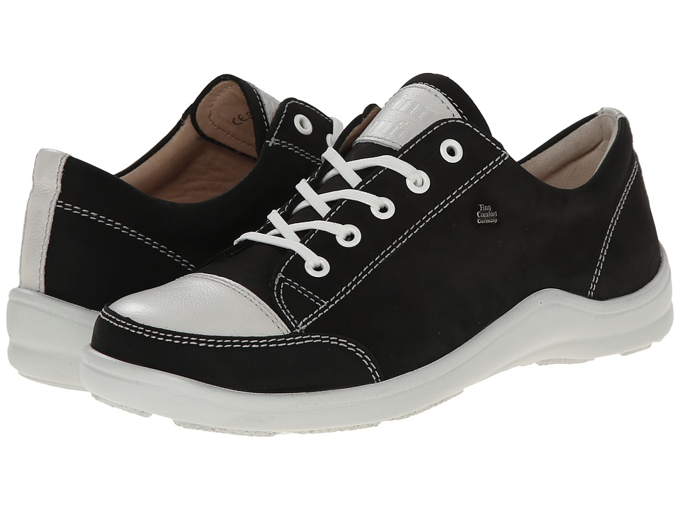 Finn Comfort - Soho - 82743 (Black/Jasmine) Womens Lace up casual Shoes