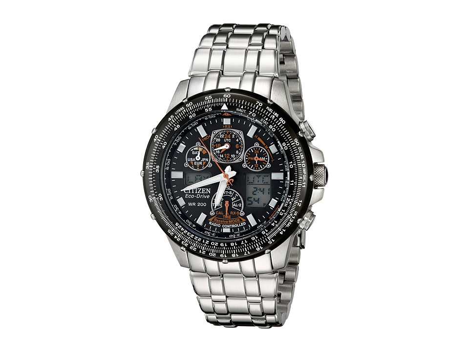 Citizen Watches - JY0000-53E Eco-Drive Skyhawk A-T Watch (Silver Band/Silver Case/Black Dial) Watches