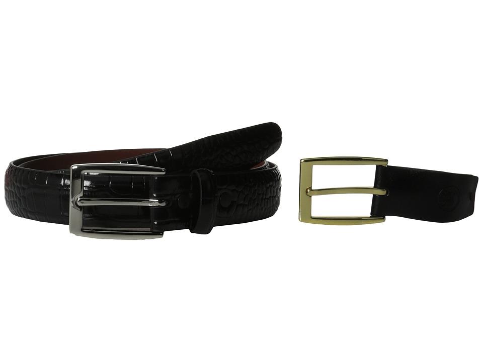 Torino Leather Co. 30MM Alligator Calfskin Black Mens Belts