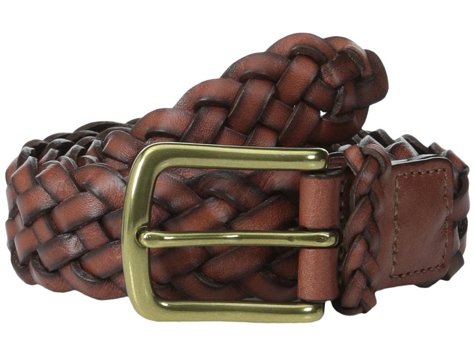 Torino Leather Co. 30MM Braided Harness Dark Tan Mens Belts