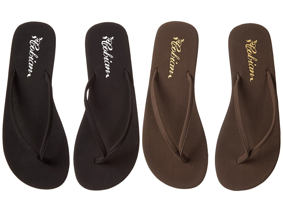 Cobian Nias 2 Pack (Black / Chocolate) Sandals