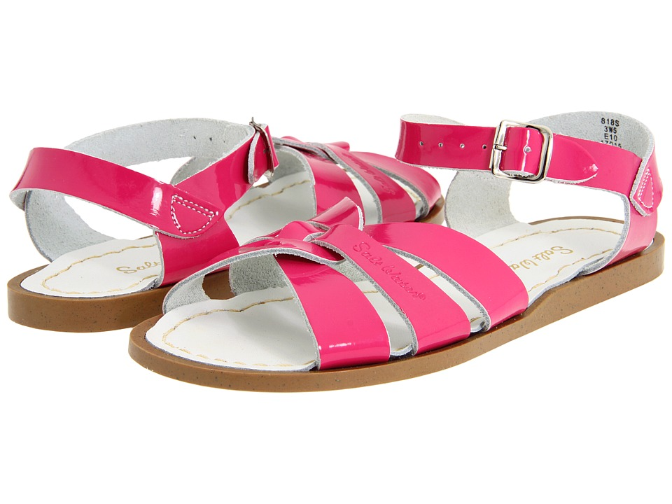 Salt Water Sandals The Original Sandal (Toddler/Little Kid) (Shiny Fuchsia) Girls Shoes