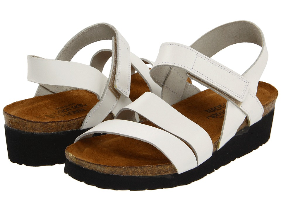 Naot Footwear Kayla (White Leather) Sandals