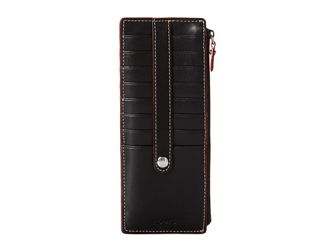 Lodis Accessories Audrey Card Case With Zip Pocket - Black
