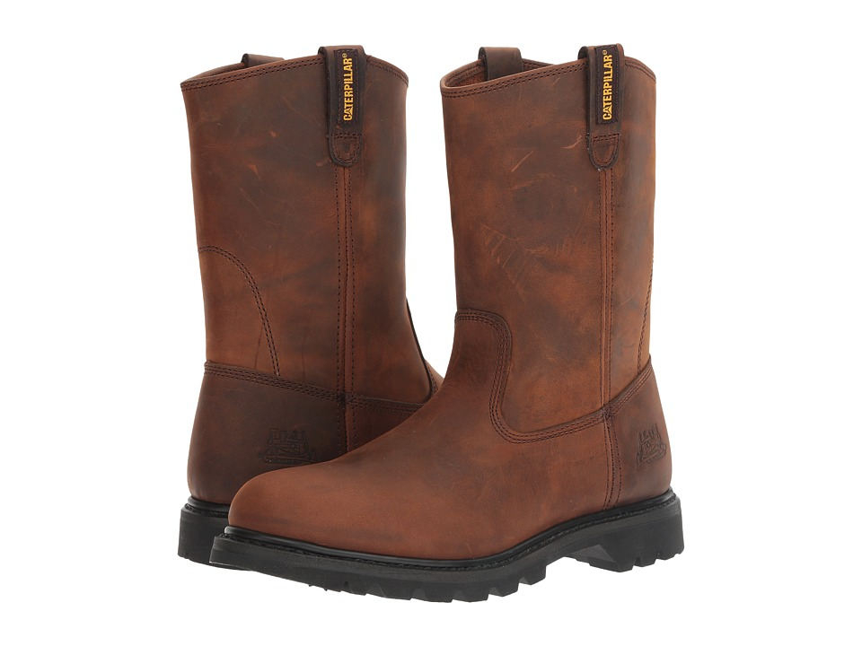 Caterpillar - Revolver (Brown Pull Up Leather) Mens Work Pull-on Boots