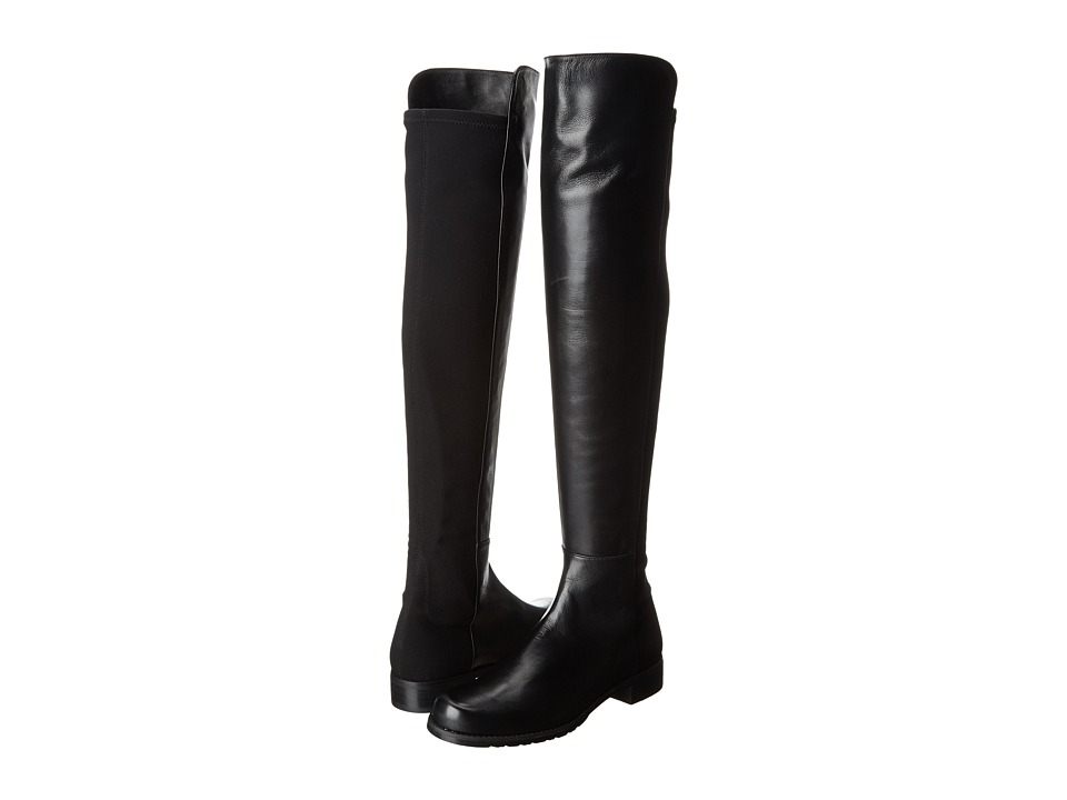 Stuart Weitzman 5050 (Black Nappa Leather) Women's Pull-on Boots