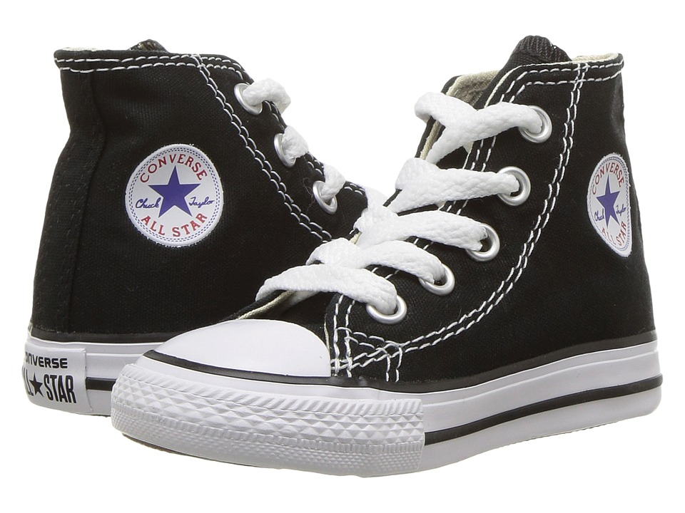 Converse Kids Chuck Taylor All Star Core Hi (Infant/Toddler) (Black) Kids Shoes
