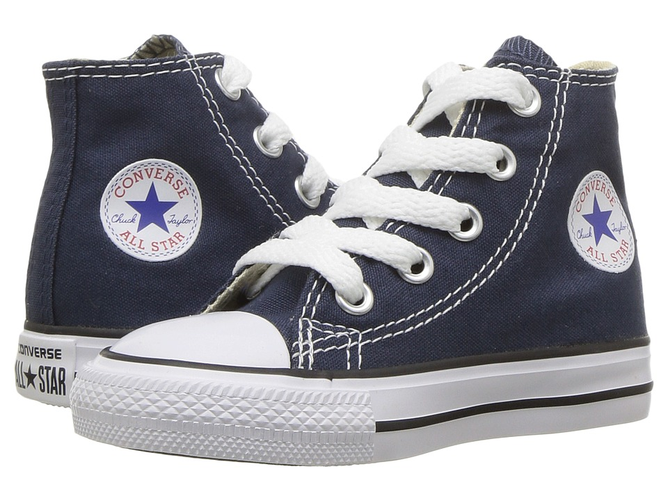 Converse Kids Chuck Taylor All Star Core Hi (Infant/Toddler) (Navy) Kids Shoes