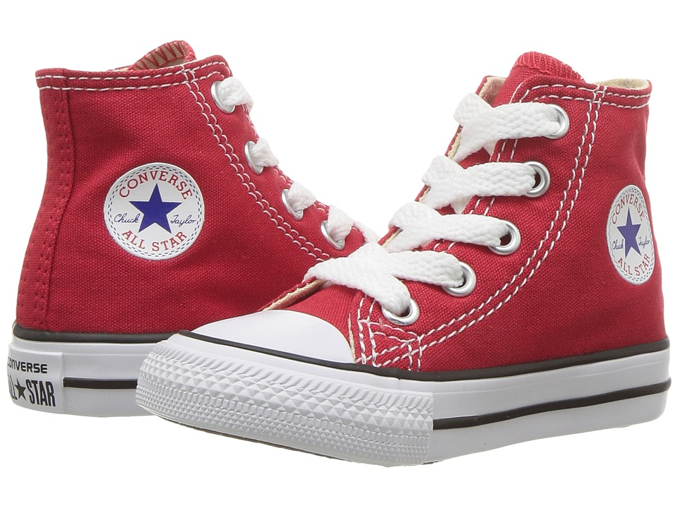 Converse Kids Chuck Taylor All Star Core Hi (Infant/Toddler) (Red) Kids Shoes