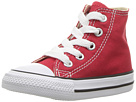 Image of Converse Kids - Chuck Taylor All Star Core Hi (Infant/Toddler) (Red) Kids Shoes