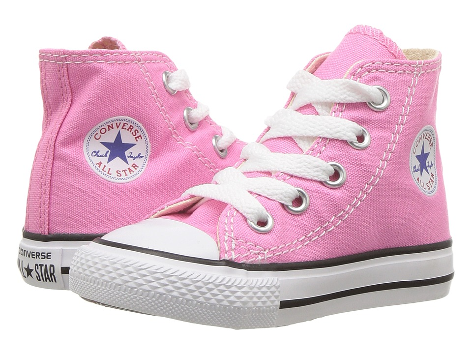 Converse Kids Chuck Taylor All Star Core Hi (Infant/Toddler) (Pink) Kids Shoes