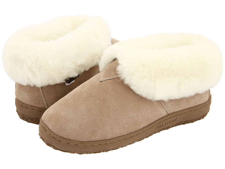 Old Friend Bootee Ladies (Chestnut W/Natural Fleece) Women's Shoes