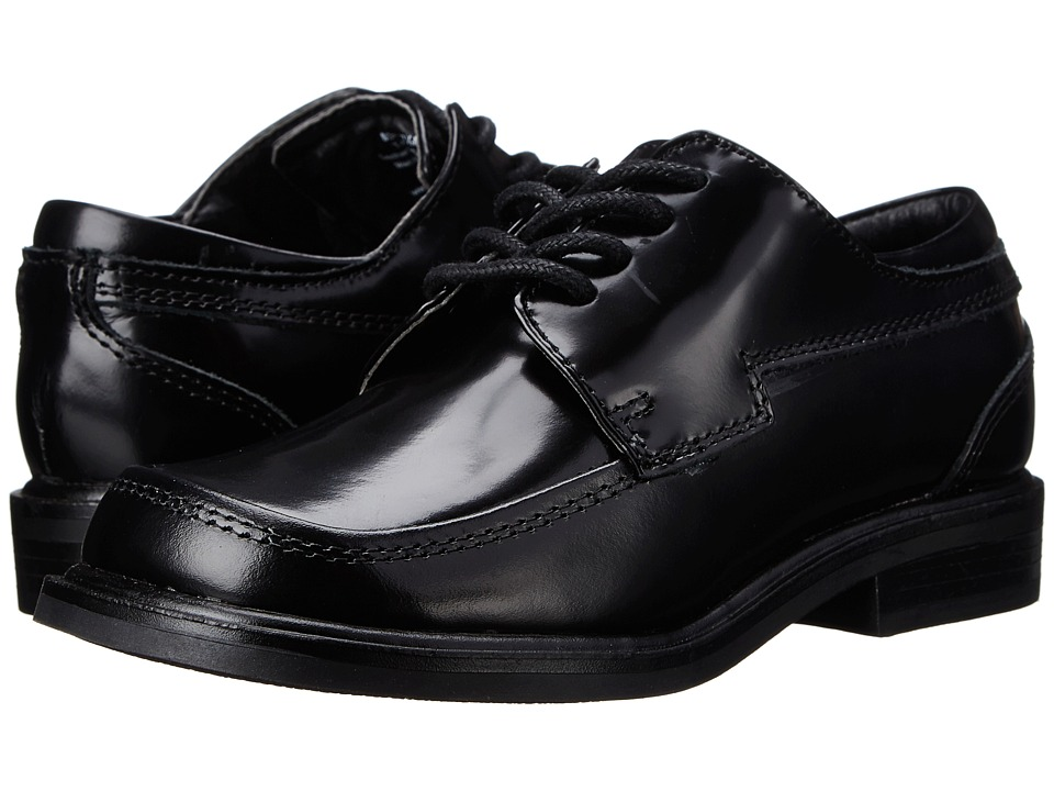 Kenneth Cole Reaction Kids T-Flex Sr (Little Kid/Big Kid) (Black Leather) Boys Shoes