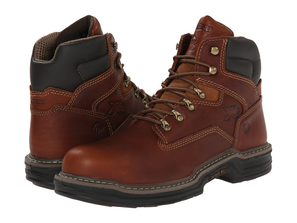 Wolverine Raider Multishoxtm 6 Steel Toe (Brown) Men's Boots