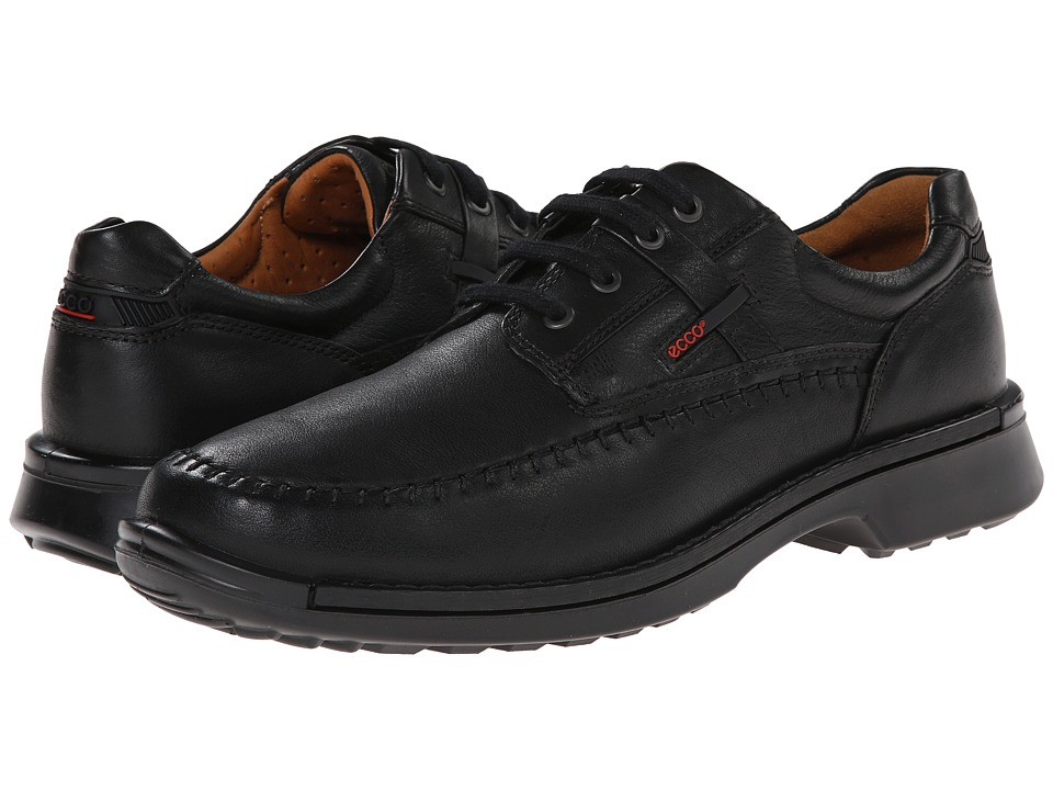 ECCO Fusion Moc Tie (Black Leather) Men